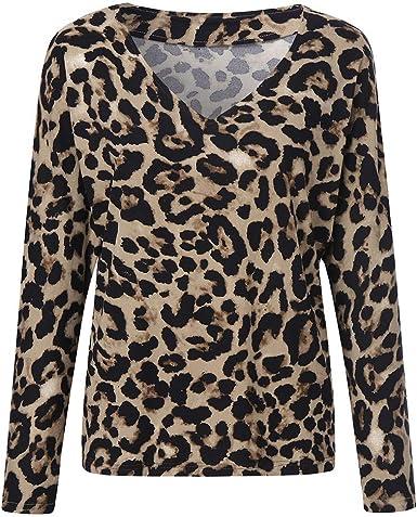 Blusa Moda Patchwork Casual para Mujer Color Block O-Neck ...