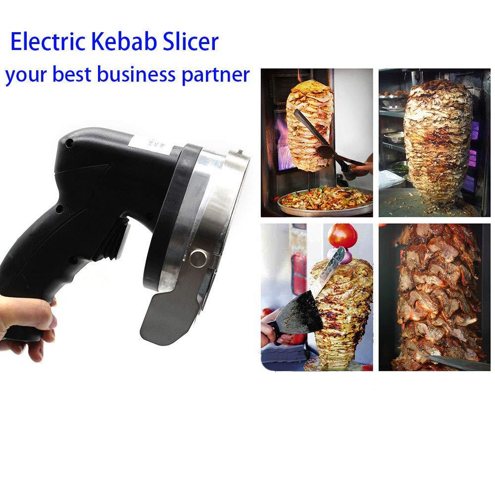 Electric Kebab Knife,110V 80W Professional Commercial Electric Shawarma Doner Kebab Knife Cutter Gyros Slicer Kebab Knife 2 Blades (USA Stock) by SHZICMY (Image #3)