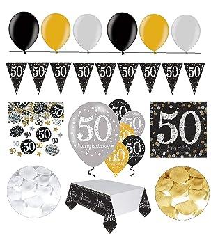 Feste Feiern Geburtstagsdeko Zum 50 Geburtstag 31 Teile All In One