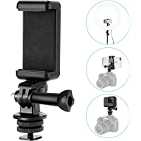 Neewer Phone Holder Camera Hot Shoe Mount Adapter Kit for GoPro Hero 7 6 5,DJI OSMO Action,iPhone X 8 7 6 Samsung Attaching on DSLR Camera or Ring Light Photography
