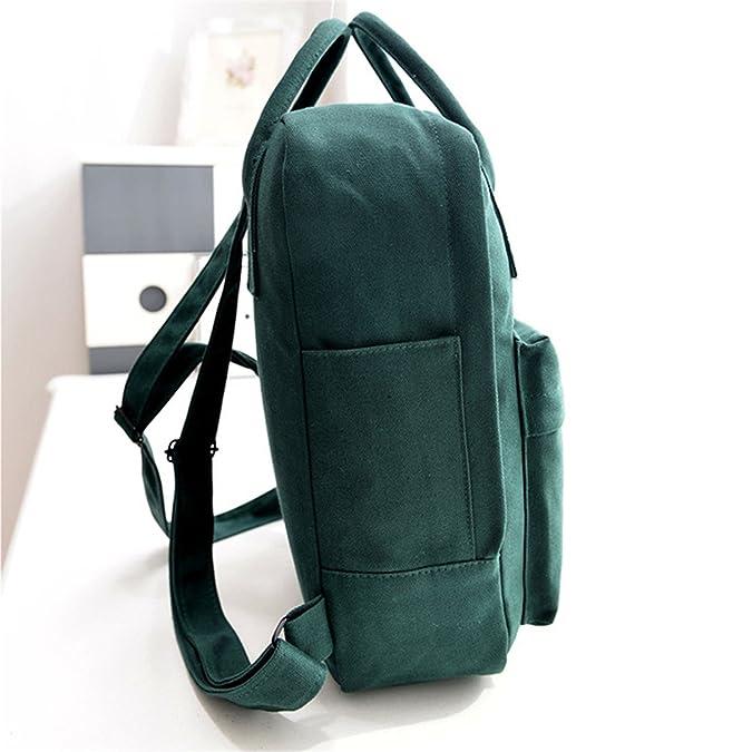 Amazon.com: Keshia Dwete NEW Preppy Designer Style Solid Colors Zipper Canvas Backpacks School Bags Teens Girls Boys Laptop Travel Mochilas Female Men Light ...