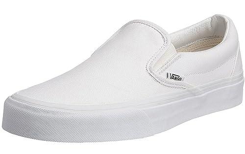 #Vans Classic Navy White Canvas Unisex Slip-On Trainers Shoes-12 qOp8x