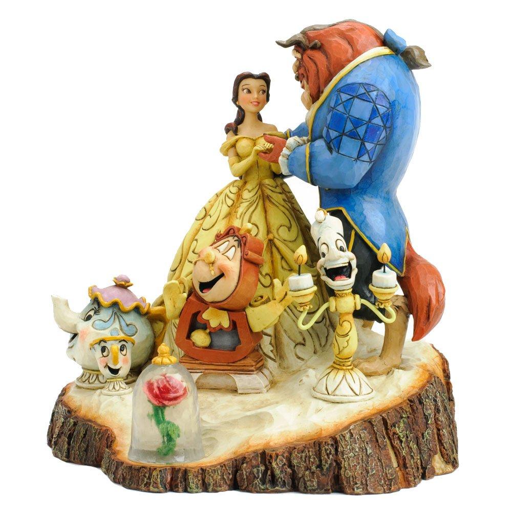 Enesco Disney Traditions 4031487 Figurine la Belle et la Bête Bois Sculpté Résine 19 cm