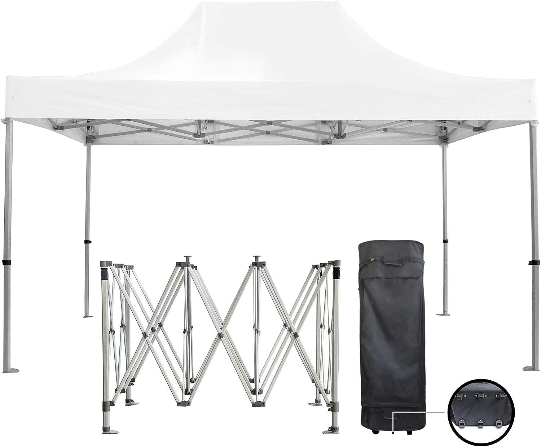 GREADEN Premium 3 x 4, 5 m 50 mm Aluminio Pro 520 Gr/M2 Blanco Plegable Carpa Plegable Tienda de campaña – gr-1fc345520p1: Amazon.es: Jardín