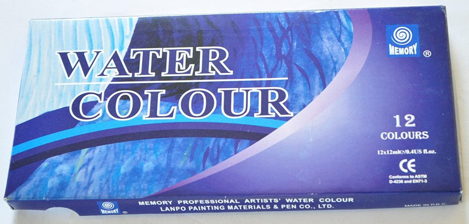 Memory Professional Artists Watercolour Paint Set, 12 Colours in 12ml Aluminium Tubes, Retail Packed - special offer