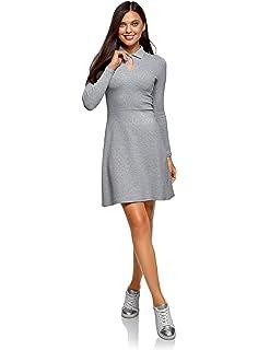 oodji Ultra Mujer Vestido con Volantes y Puños Acampanados: Amazon.es: Ropa y accesorios