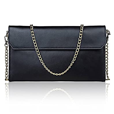 Amazon.com: S-ZONE Women's Genuine Leather Evening Envelope ...