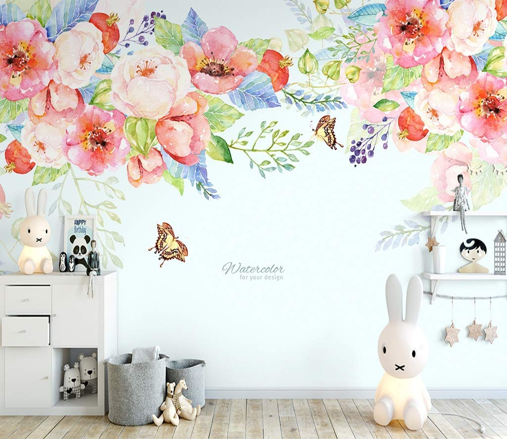Amazon Com Murwall Boho Floral Wallpaper Pink Vine Flower Wall