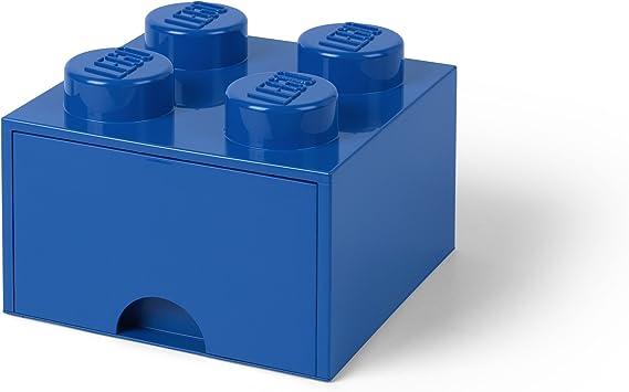 LEGO Ladrillo 4 pomos, 1 cajón, Caja de almacenaje apilable, 4,7 l ...