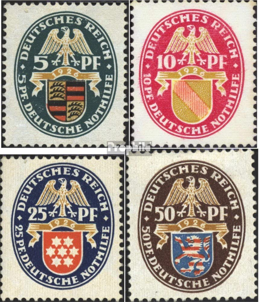 Prophila Collection Deutsches Reich 398-401 Briefmarken f/ür Sammler 1926 Nothilfe kompl.Ausg.