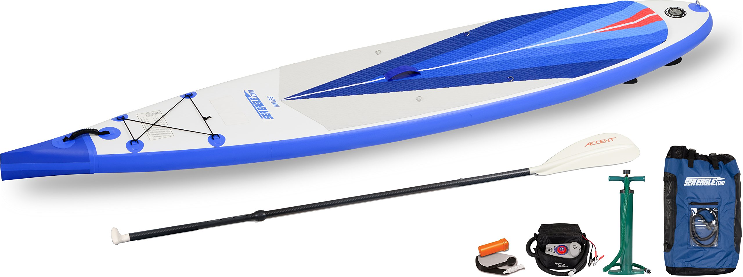 Sea Eagle NeedleNose NN126 Touring Stand Up Paddle Board SUP- Electric Pump Package