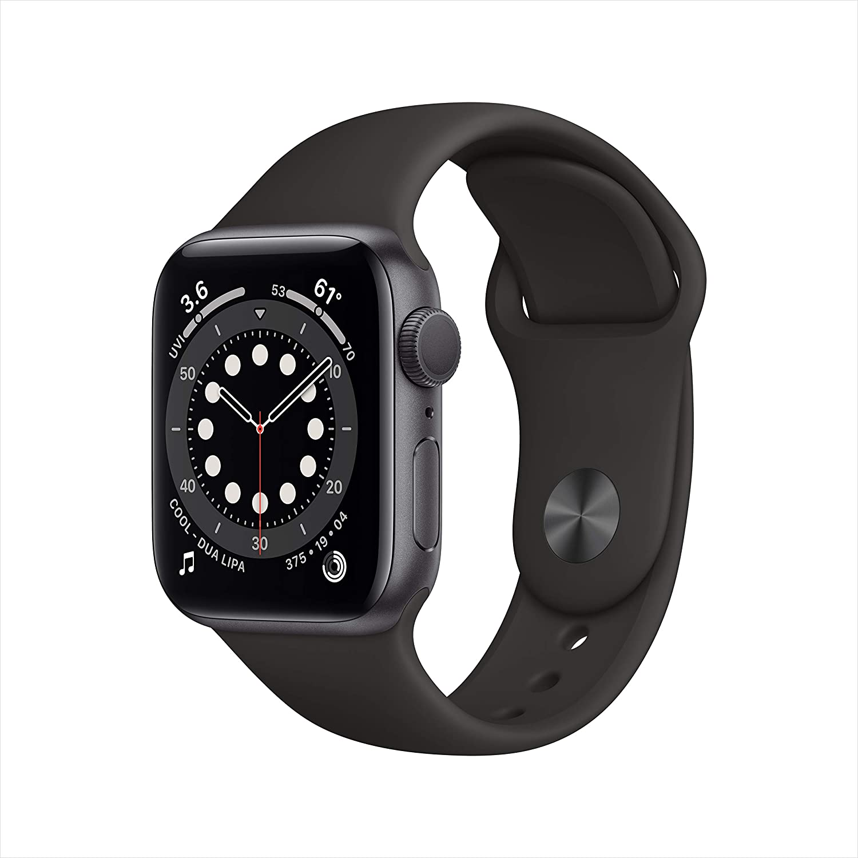 Nuevo Apple/Watch/Series/6 Caja de Aluminio en Gris Espacial GPS, 40 mm Correa Deportiva Negra