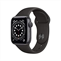 New AppleWatch Series 6 (GPS, 40mm) - Space Gray Aluminum Case with Black Sport Band