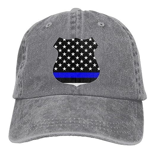 8a1e546045973 Arsmt Police Thin Blue Line Denim Hat Adjustable Women s Tactical Baseball  Caps