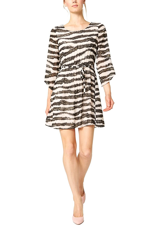 s.Oliver Premium Damen Kleid mit Zebraprint, Knielang