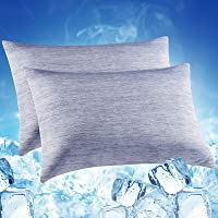 LUXEAR Pillowcase, 2 Pack Arc-Chill Cooling Pillowcases with Double-Side Design [Cooling & Cotton Fiber], Anti-Static…