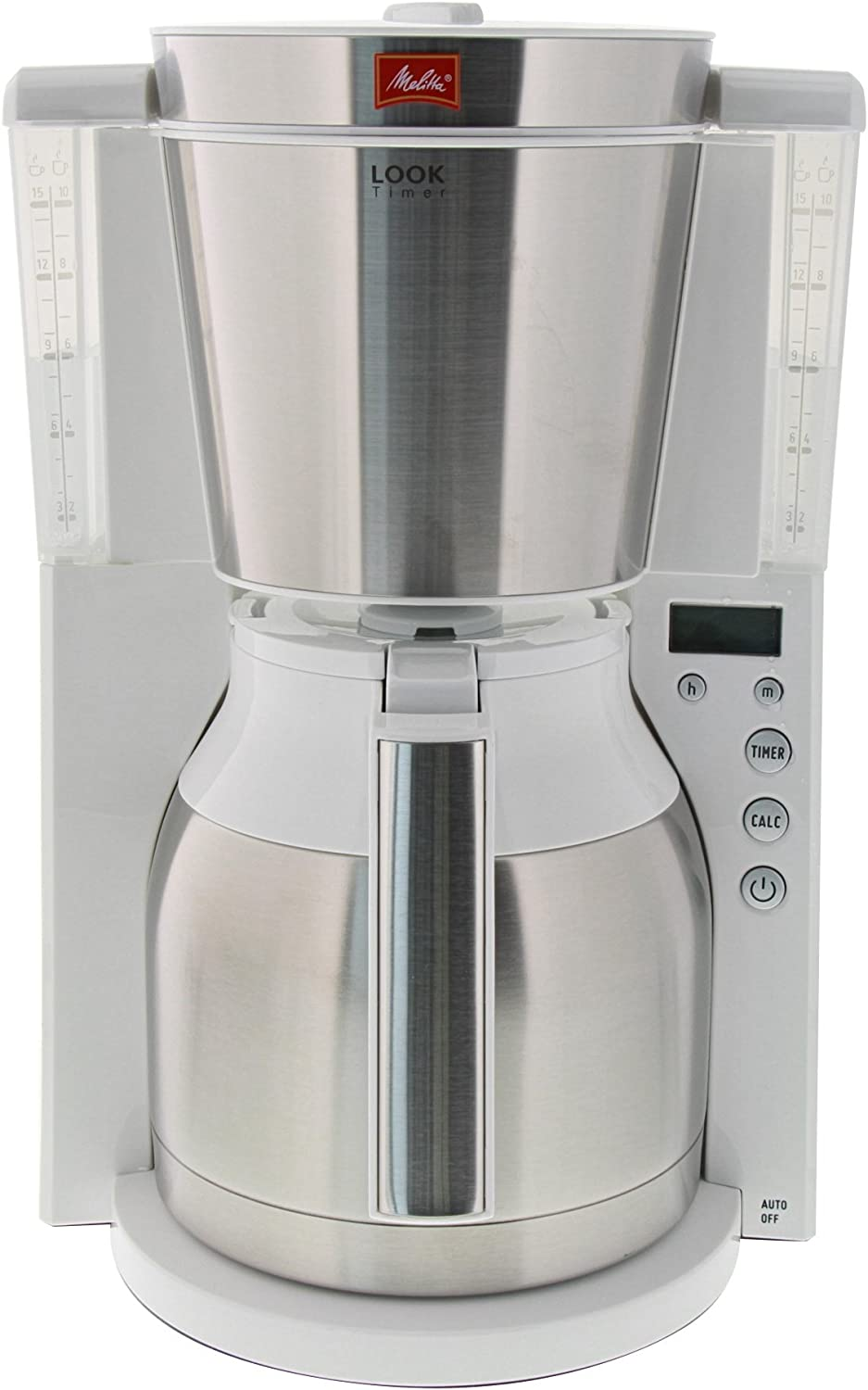 Melitta Thermo-Kaffeemaschine 1011-15 Look Therm Timer weiss//Edelstahl