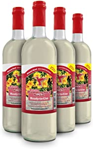 Sweet-Seed Sweet-Nectar Premium Hummingbird Food All-Natural & Dye Free Premium Hummingbird Nectar Ready-to-Use Formula, 100 oz, 4 Count