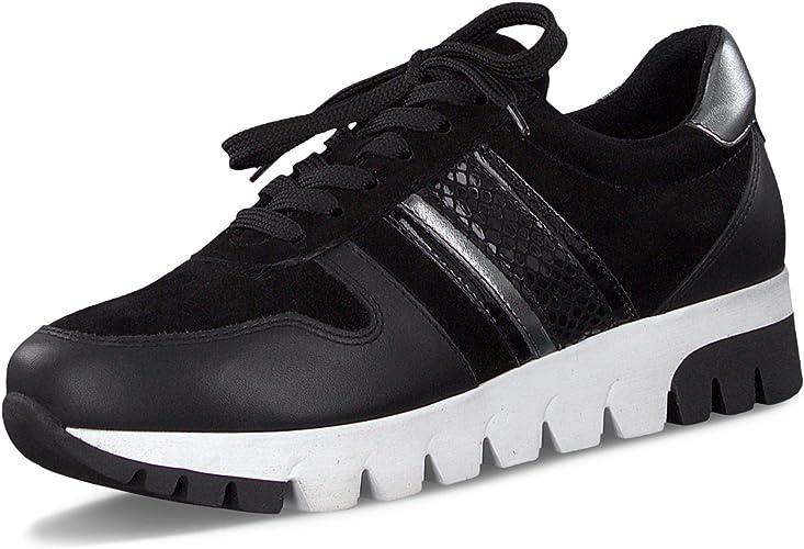 Tamaris Women's 1 1 23760 33 Low Top Sneakers, (Black Comb