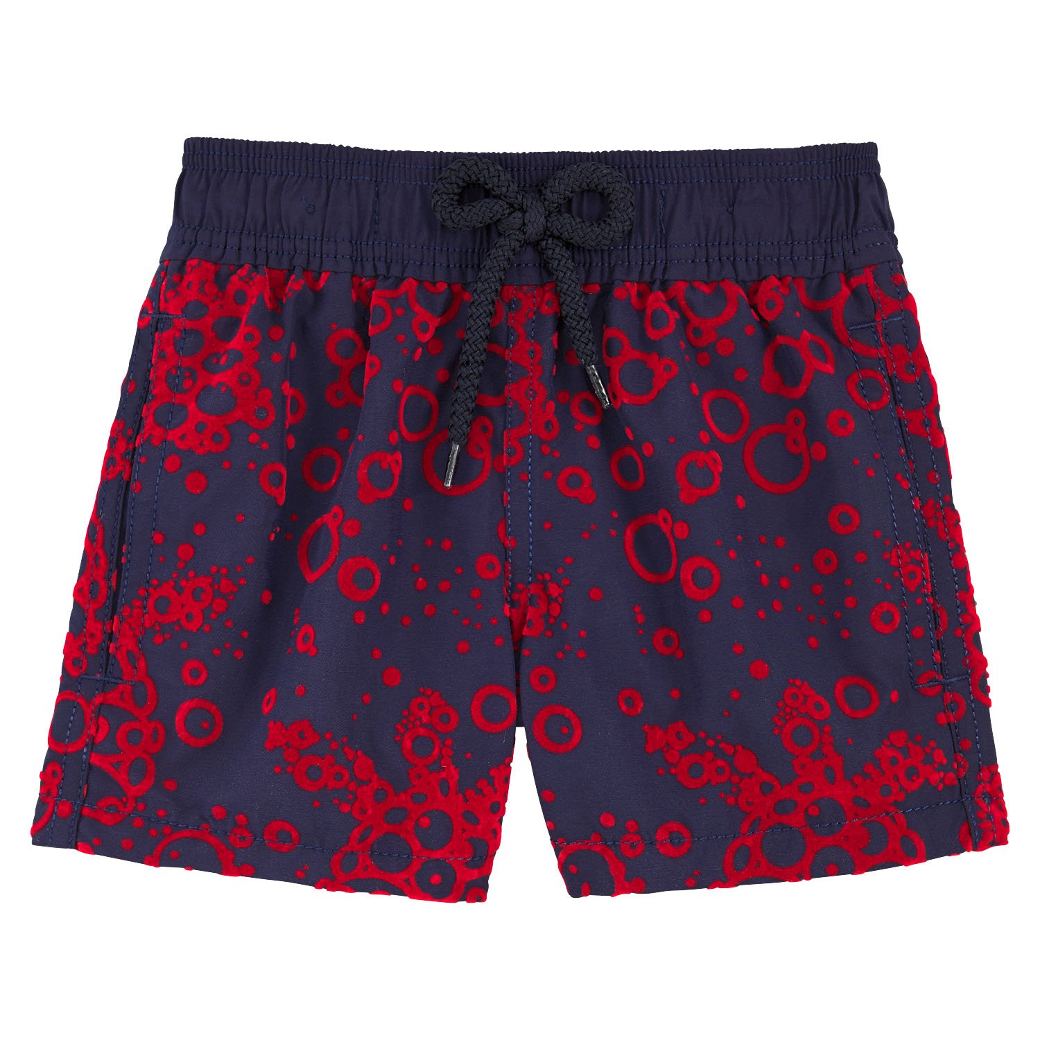 Vilebrequin - Flocked Bubbles Turtles Boy Swimwear - Boys - 4 years - Navy Blue