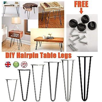 4 patas de mesa de horquilla de metal para muebles, patas de mesa ...