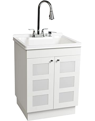 80369b8ff24 LDR 7712CP-SD Laundry Utility Cabinet Sink Vanity Chrome Faucet with Pull  Out Spray and
