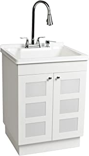 LDR 7712CP-SD Laundry Utility Cabinet Sink Vanity Chrome Faucet with Pull Out Spray and  sc 1 st  Amazon.com & sink ALEXANDER 24