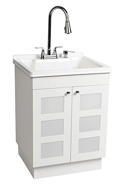 Delicieux LDR 7712CP SD Laundry Utility Cabinet Sink Vanity Chrome Faucet With Pull  Out Spray And