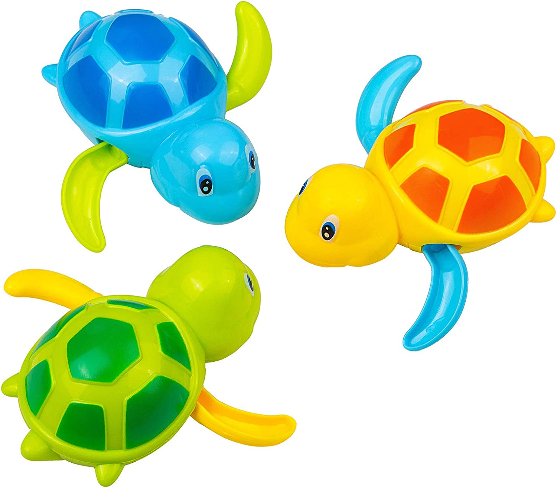 GWHOLE 3 Tortugas Juguetes de Ba/ño Juguetes de Agua Juguete de Piscina Tortugas Juegos Acu/áticos Regalo Verano Ni/ños