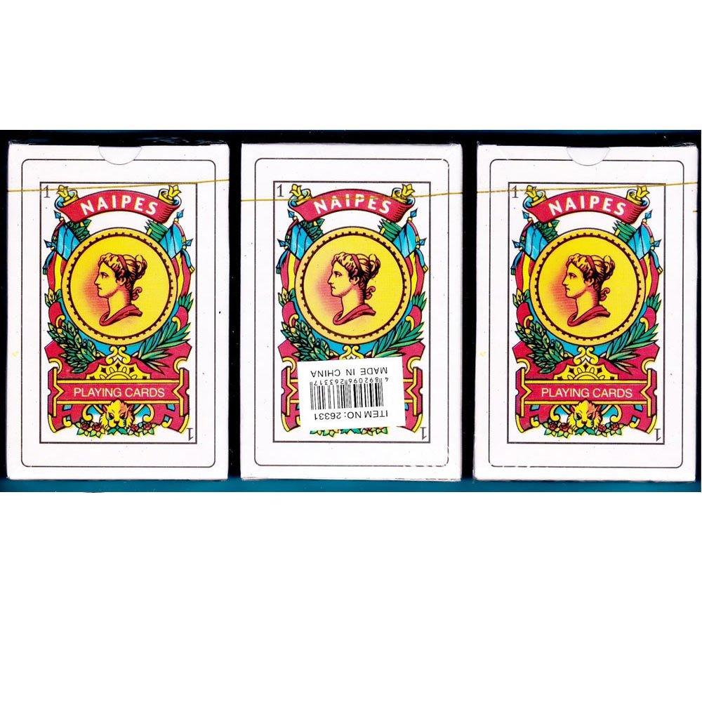 Amazon.com: 3 Decks Spanish Playing Cards Baraja Espanola 50 Cards Naipes  Tarot New Sealed: Toys & Games