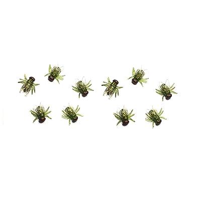 10 x vert vole nouveauté vie blague blague comme le plastique bogues jouet truc drôle april fools Halloween se retrouvent