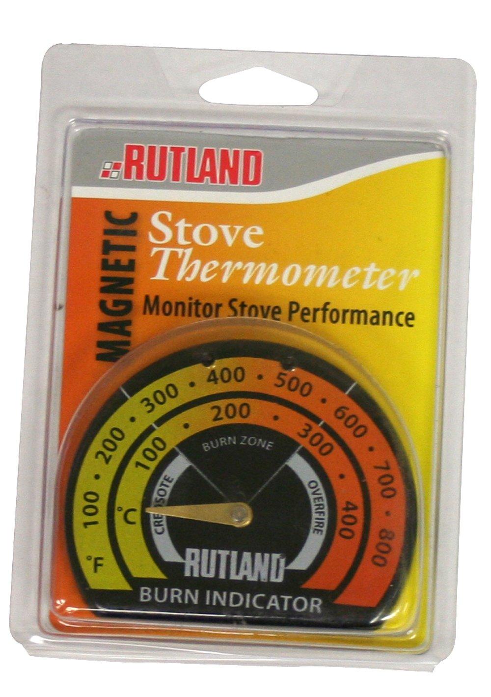 Rutland Products Stove Thermometer/Burn Indicator, Metal, Multi-Colour, 1.59 x 10.79 x 14.92 cm 701