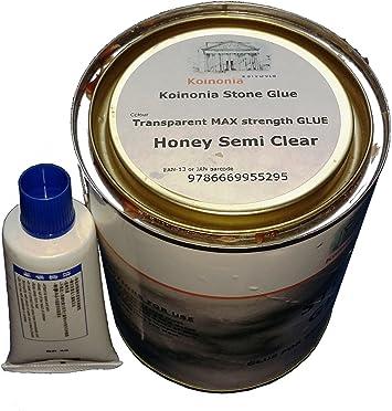 Pegamento de piedra 1ltr adhesivo de resina de poliéster y endurecedor transparente miel transparente