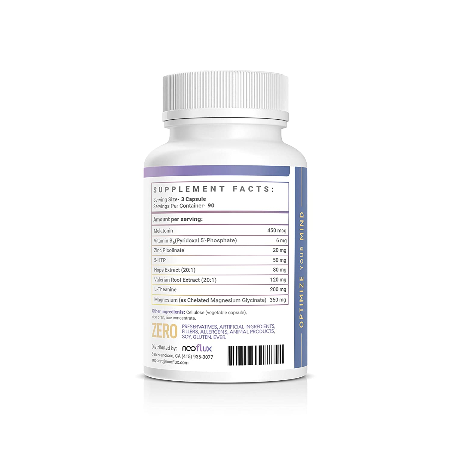Amazon.com: Natural Sleep Aid - Safe, Effective, Non Drowsy Sleep Formula - ZMA Valerian Root Melatonin - Helps with Recovery & Relaxation - Rest by ...