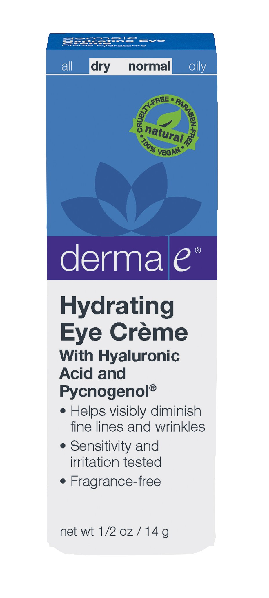 DERMA E Hydrating Eye Crme with Hyaluronic Acid and Pycnogenol 1/2 oz by DERMA-E (Image #3)