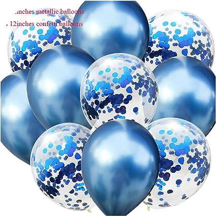 "10Pcs 12/"" Baby Kid/'s 1st Bithday Confetti Balloons Set Gender Party Decoration"