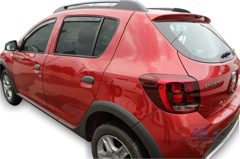 ad oggi 4 Porte 4pezzi J/&J AUTOMOTIVE DEFLETTORI ARIA ANTITURBO per Dacia SANDERO STEPWAY 2012