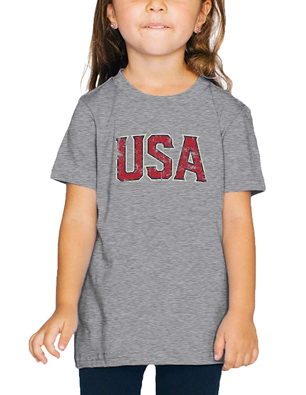 Light Gray 2T SpiritForged Apparel Vintage USA Patriotic America Toddler T-Shirt