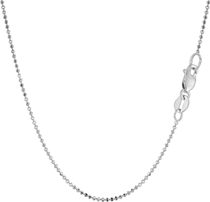 14k Yellow Gold 1mm Solid Diamond-Cut Bead Chain
