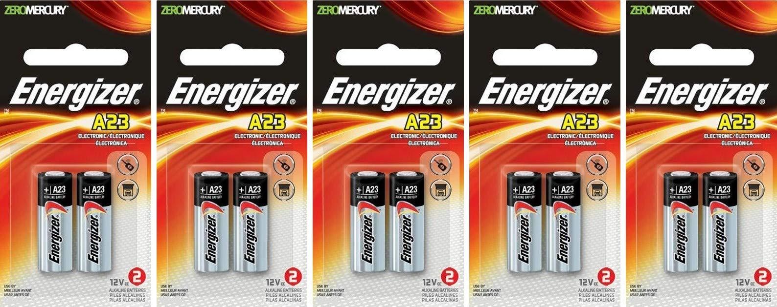 5 X 2 Energizer A23 21/23 23A MN21 GP23 12v Alkaline Garage Door Opener 10 Batteries by My Battery Supplier