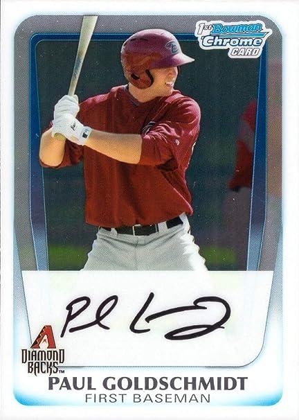 2011 bowman chrome prospects #bdp99 PAUL GOLDSCHMIDT diamondbacks rookie PSA 9
