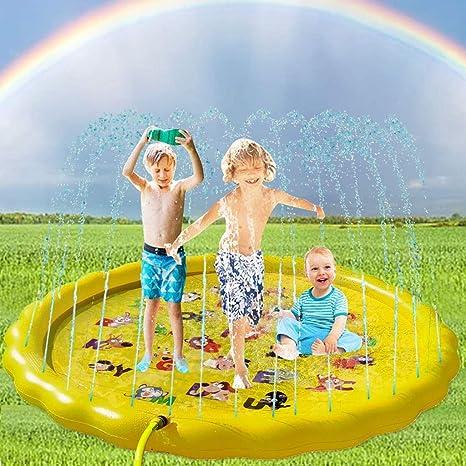 67 inch Juego de Salpicaduras y Salpicaduras para niños Perros Aspersor de Juego Piscinas Niñas Agua Juguetes para verano Al aire libre Patio interior Jardín Nadando Playa: Amazon.es: Bebé