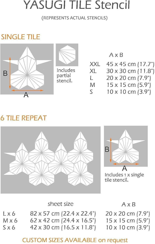 YASUGI Tile Stencil Geometric Floor Stencil for Painting