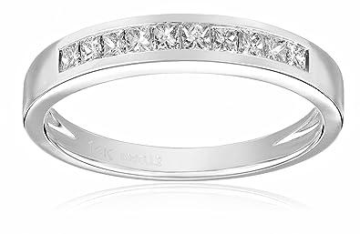 5168a032039e2 Kobelli 1/3 cttw Princess-Cut Diamond 14k White Gold Wedding Band