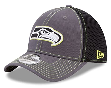 check out 3c24a 1d25d Image Unavailable. Image not available for. Color  Seattle Seahawks New Era  NFL 39THIRTY  quot Shock Stitch Neo quot  Gray Flex Fit Hat