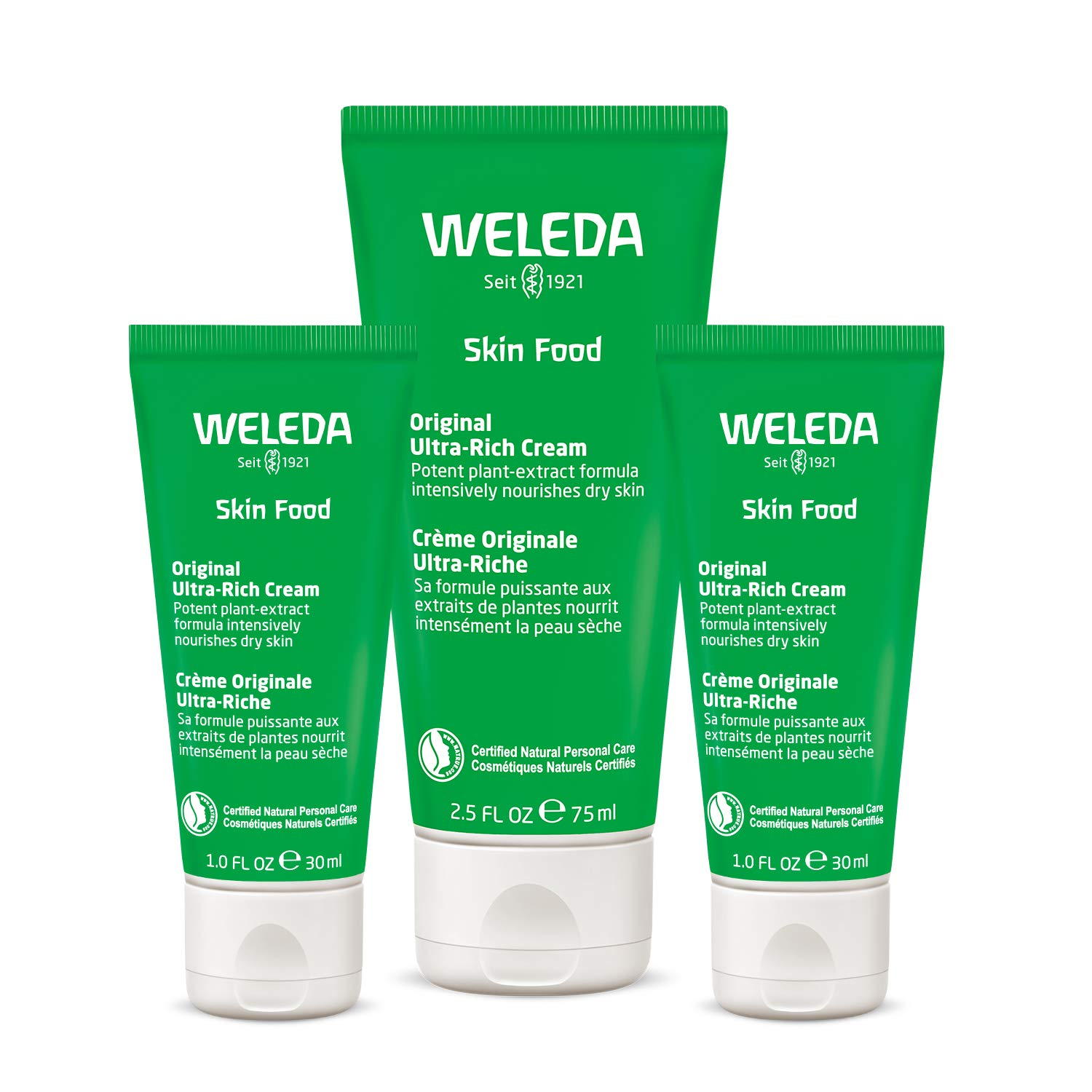 Weleda Moisture and Shine Skin Food 3-Piece Set