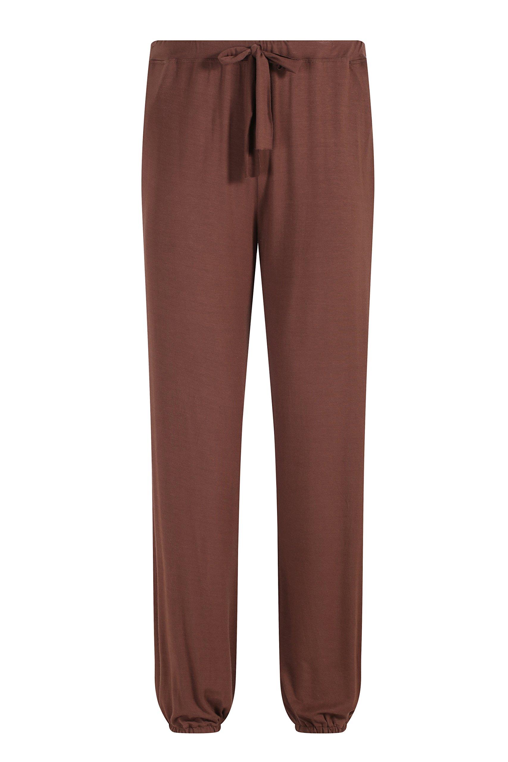 ZSHOW Men's Summer Long Casual Pants Loose Fit Yoga Pants Lounging Sleep Pockets Pants(Coffee,XL)