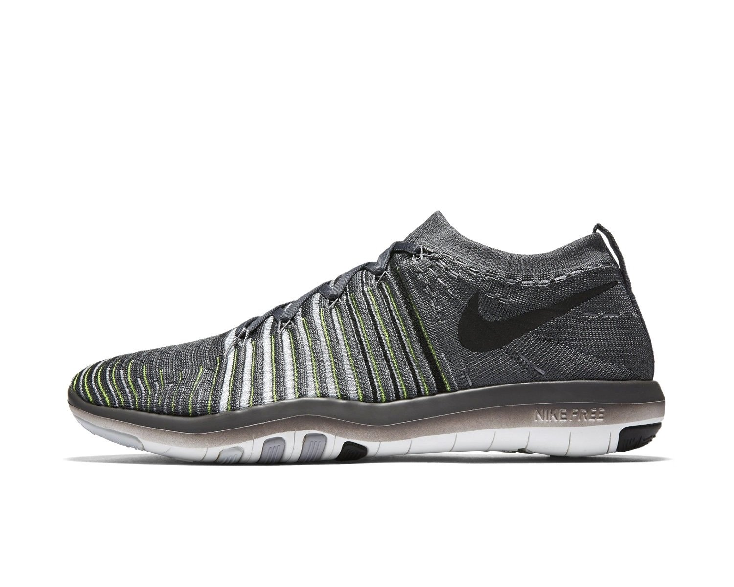 NIKE Womens Free Focus Flyknit Mesh Breathable Trainers B06XY4F23Z 8.5 B(M) US|Dark Grey Black Wolf Grey 004