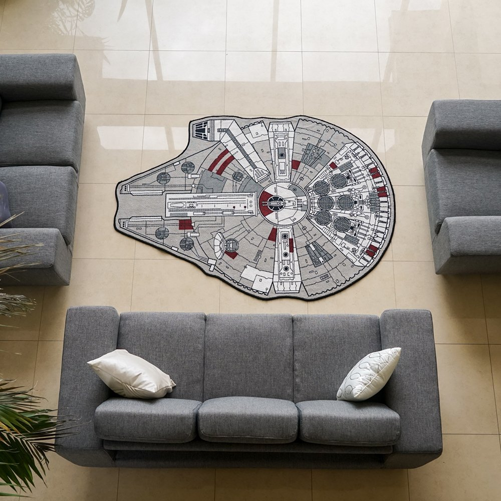 Star Wars Millenium Falcon Printed Rug, Small