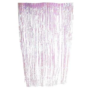 Shimmer Metallic Fringe Foil Tinsel Curtain Room Wedding Party Decoration